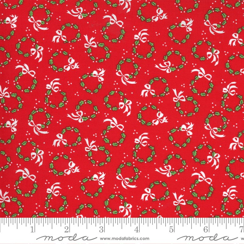 Merry and Bright - Merry Wreaths - Poinsettia Red