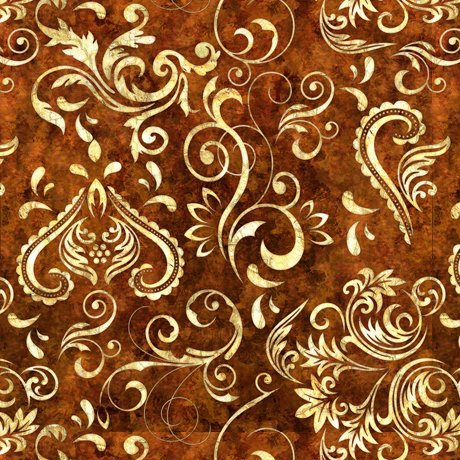 Unbridled - Inlay Scroll - Dark Sienna