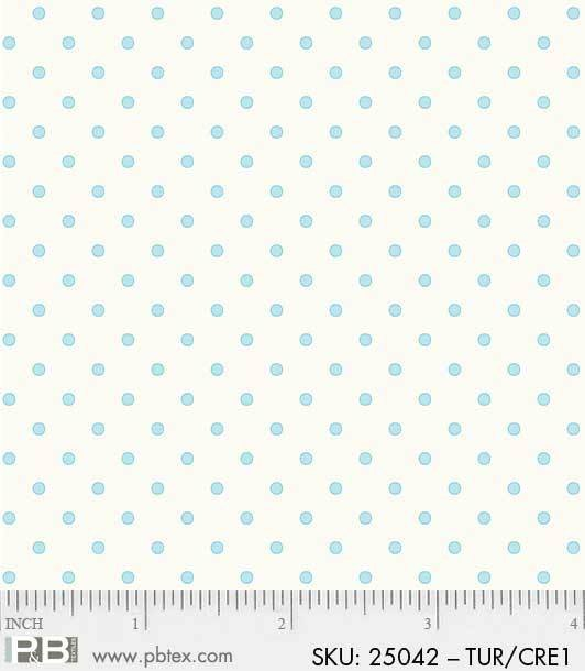 Basically Hugs by Helen Stubbings: Dots - Turquoise/Cream