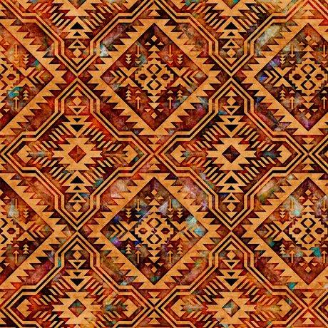 Southwest Reflection - Blanket - Rust