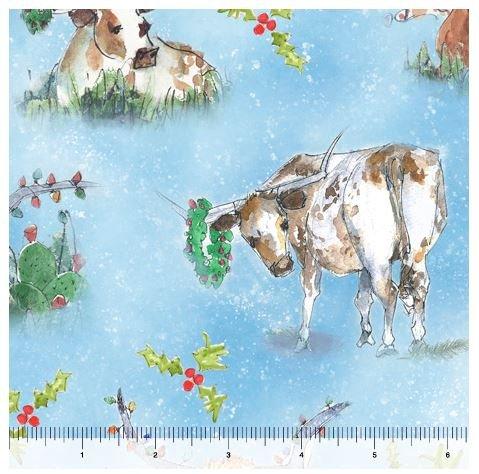 Christmas Longhorns - Blue