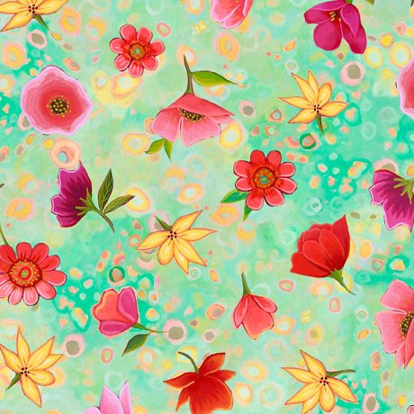 Wild Beauty - Spaced Floral - green