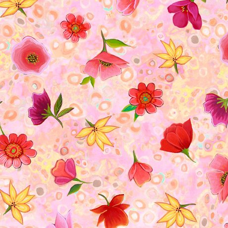 Wild Beauty - Spaced Floral - pink