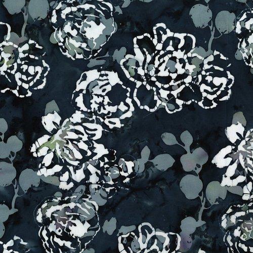 Blossom Batiks - Sakura - Peonies - Night Breeze