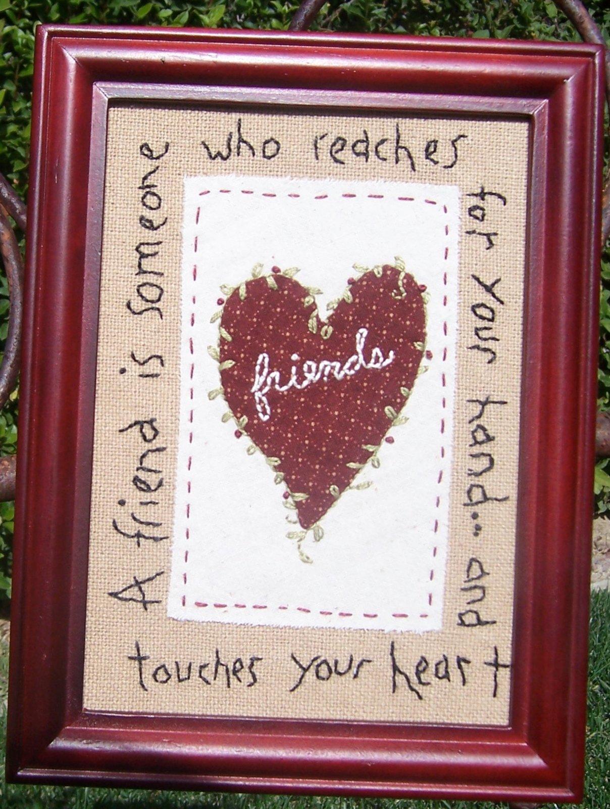 Friends Reach -  Embriodery Kit - 5 x 7