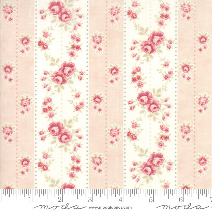 Poetry - Floral Rosebud Stripe - Blush