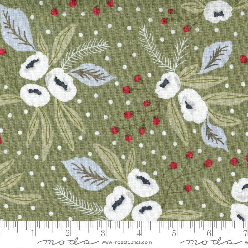 Christmas Morning - Snow Blossoms - Pine