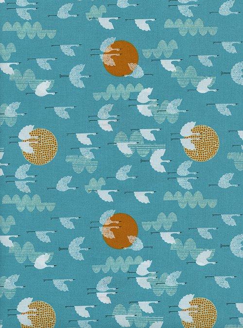 Lawnquilt - #Lawnquilt - Cranes - Dawn - Lawn Fabric