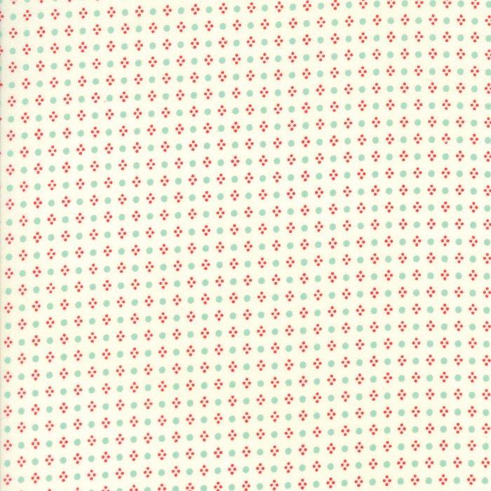Handmade by Bonnie & Camille for Moda - Aqua Dots Cream BG