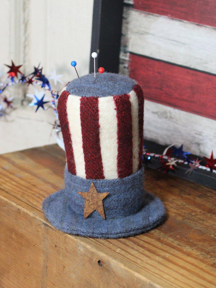 Uncle Sam Hat - Pin Keep Kit - 4 1/2 x 2 Pin Cushion Kit