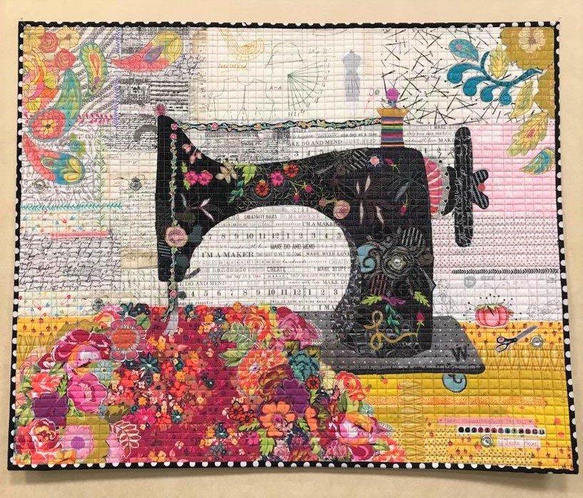 Featherweight - Collage Pattern by Laura Heine