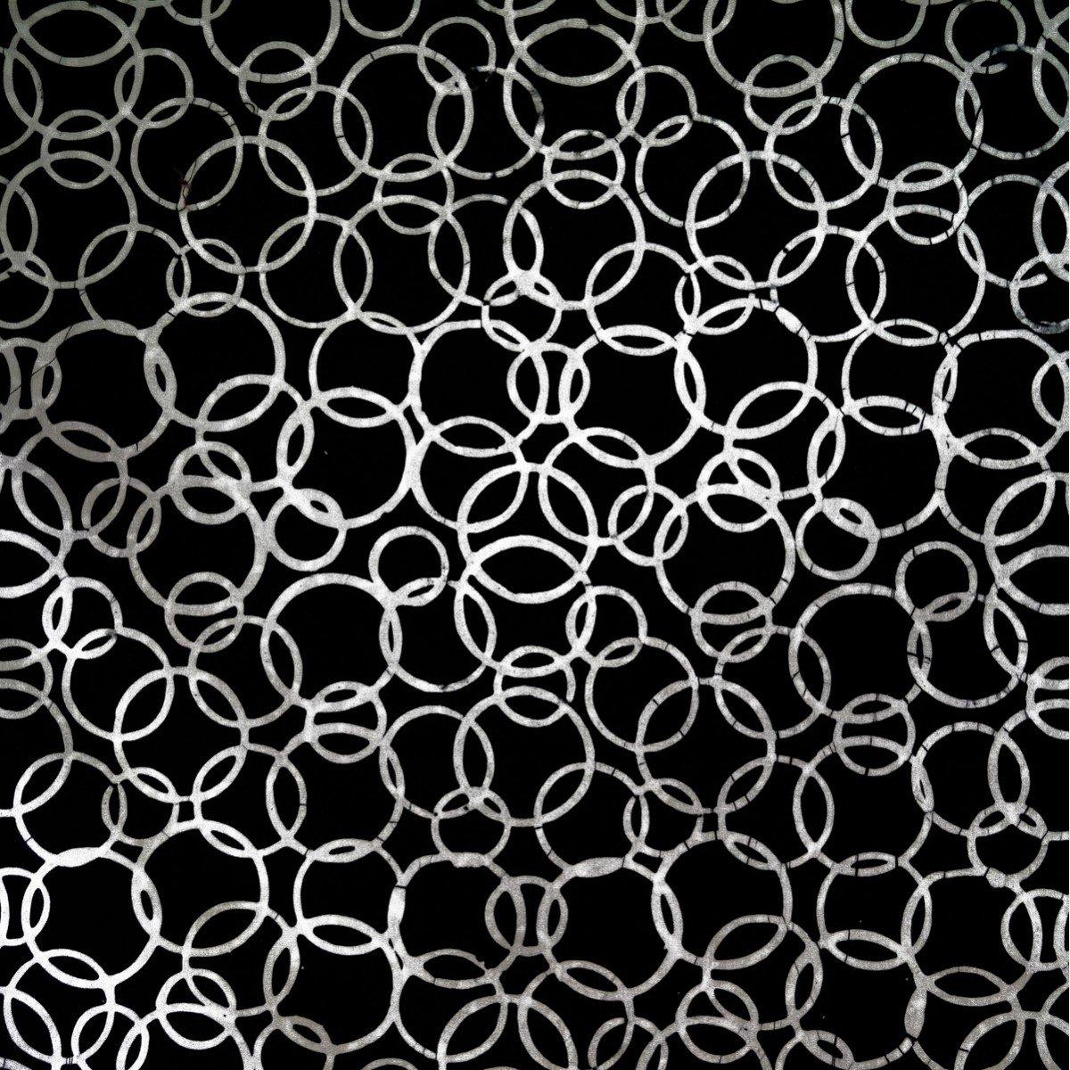Batik by Mirah - Night Cruise - Black & White