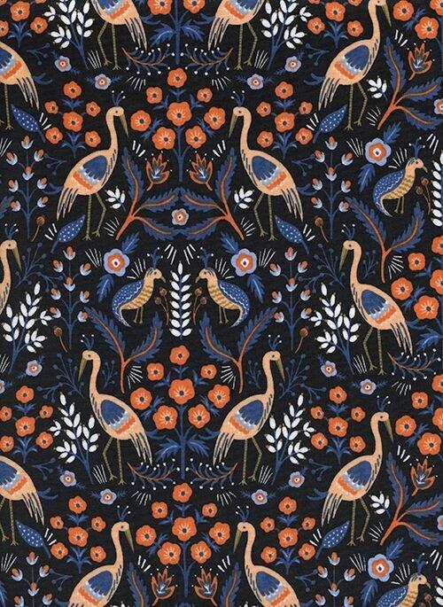 Les Fleurs - Tapestry - Black