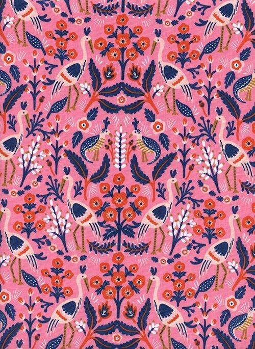 Les Fleurs - Tapestry - Rose