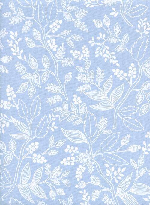 Les Fleurs - Queen Anne - Pale Blue