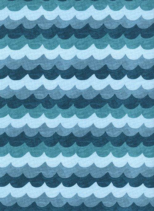 Amalfi - Waves - Turquoise