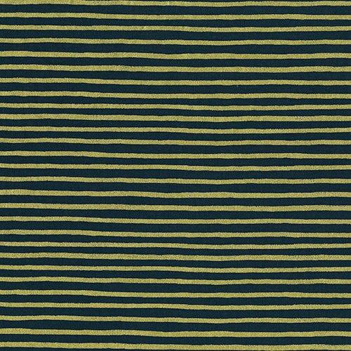 English Garden - Stripes - Navy Metallic