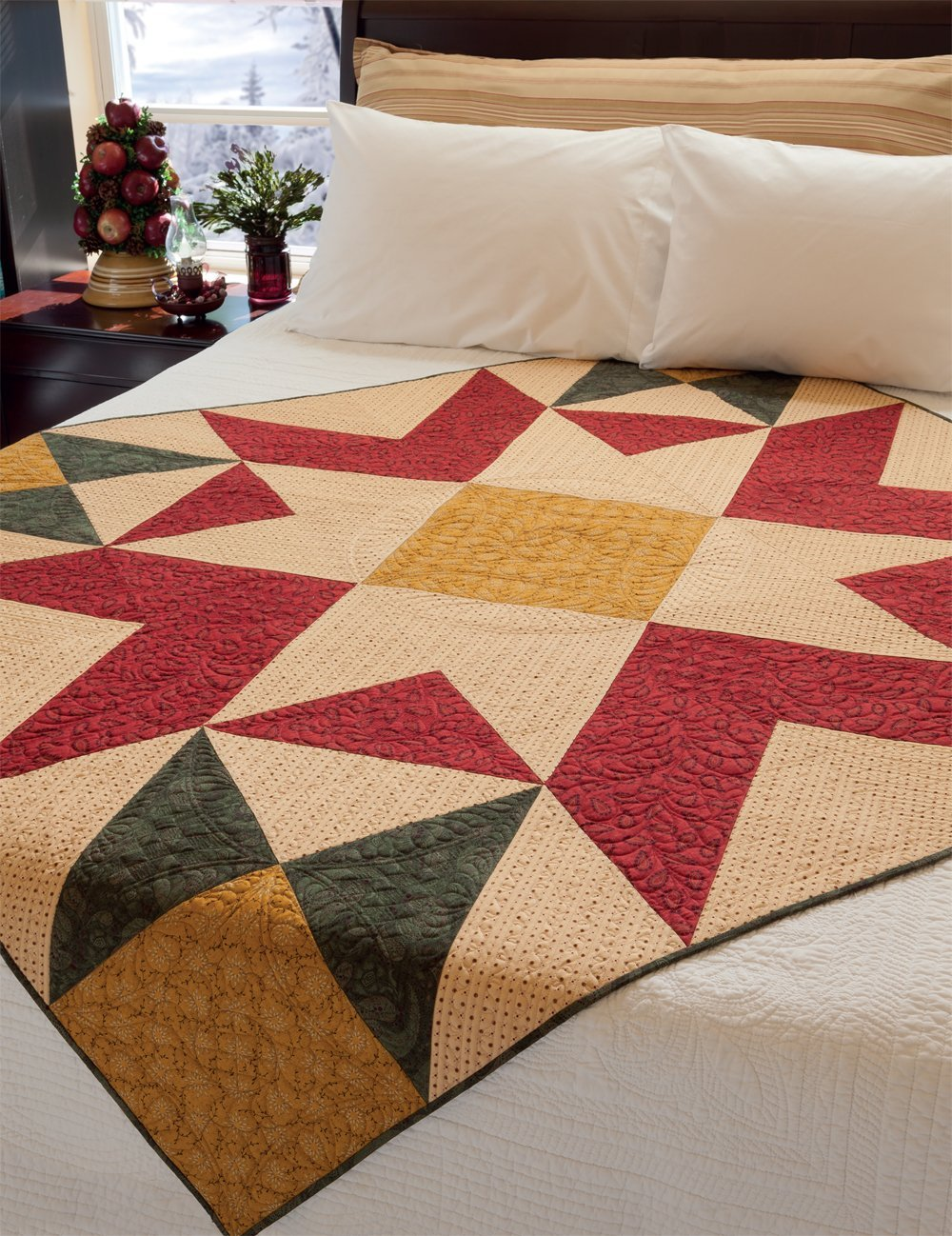 Simple Christmas Tidings Quilt Project Book by Kim Diehl