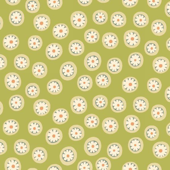 To The Zoo - Daisy Dots - Green