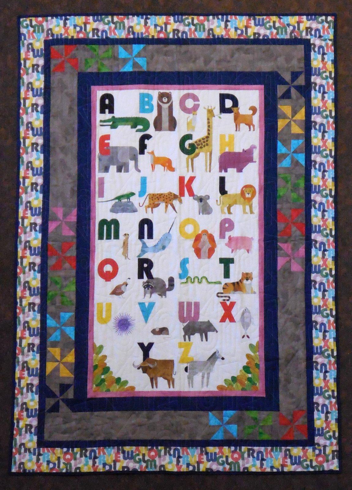 ABC Animals Quilt Kit 46 1/2 X 66