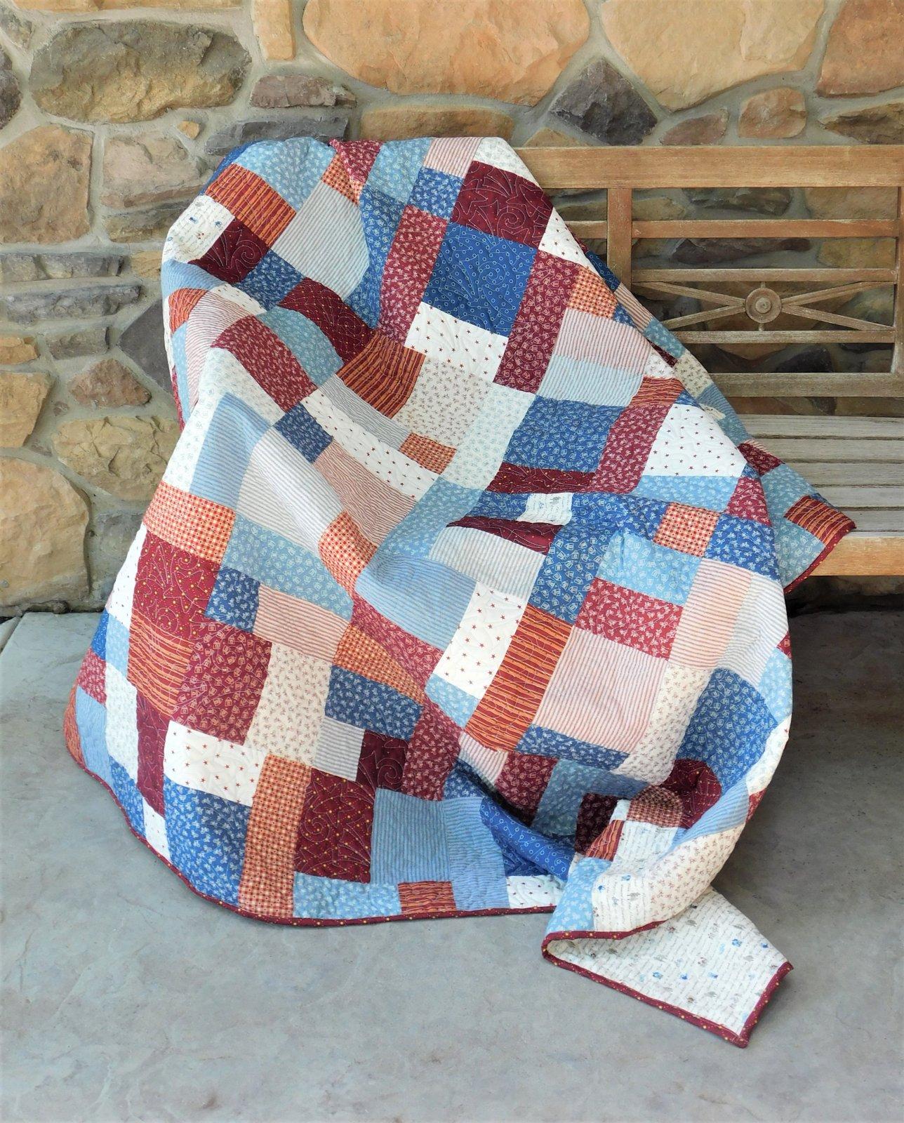 American Brick Road Quilt Kit - 63 x 72