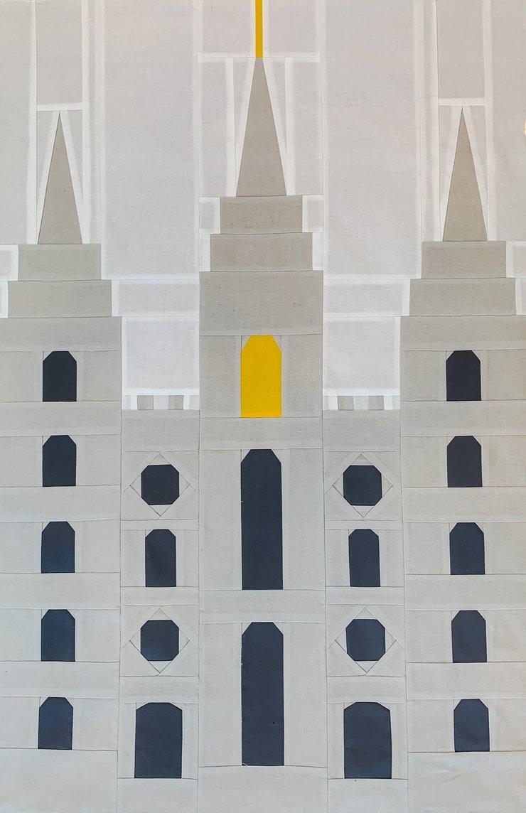 Salt Lake Temple Quilt Block Pattern by Andi Jo Designs