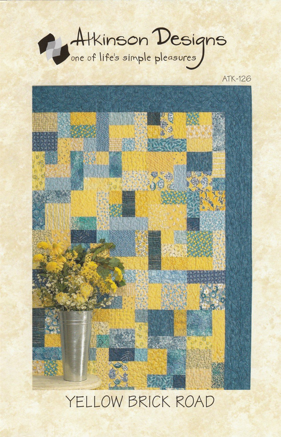 Yellow Brick Road Quilt Pattern - Multiple Sizes