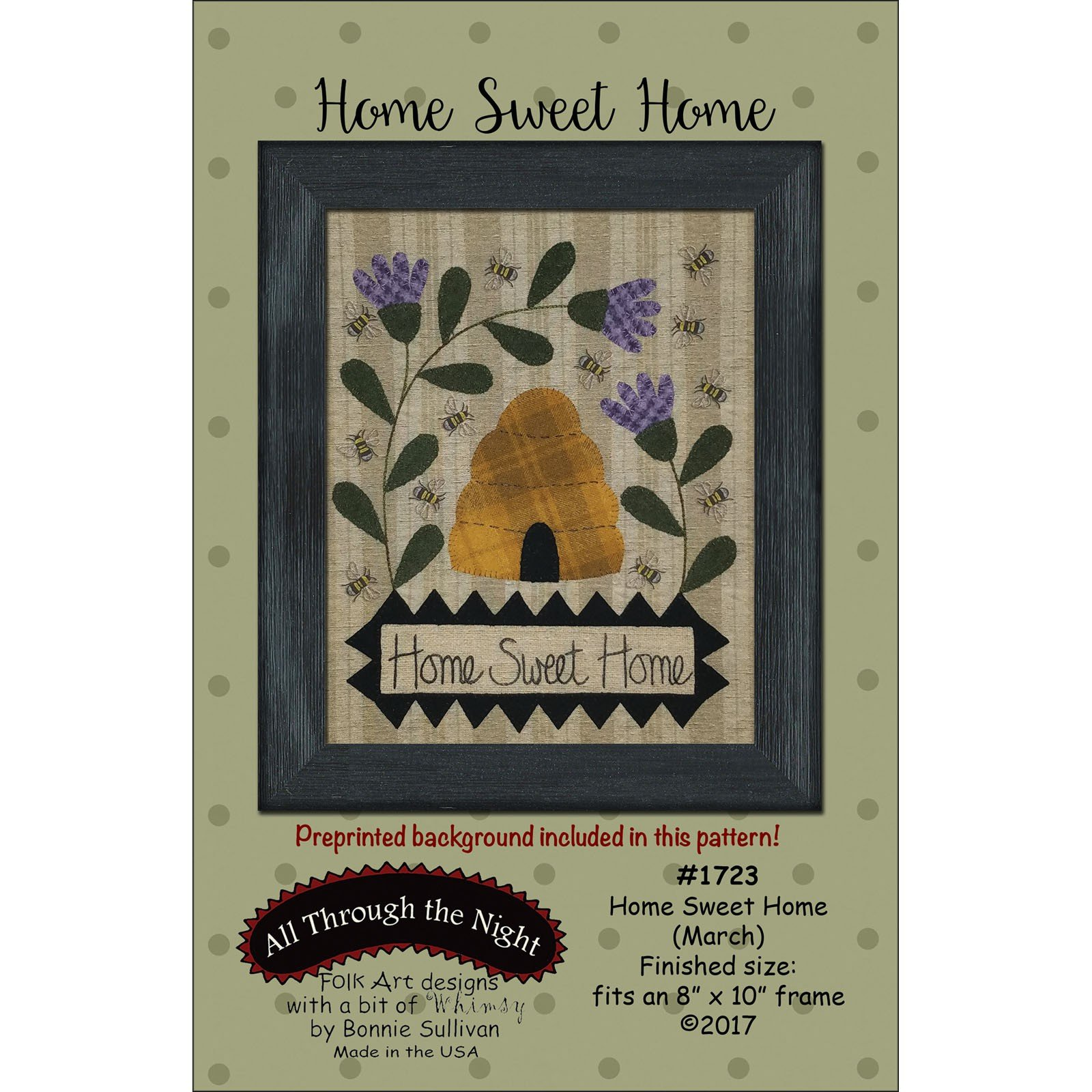 Home Sweet Home - Embroidery Kit - Finished Size 8 X 10