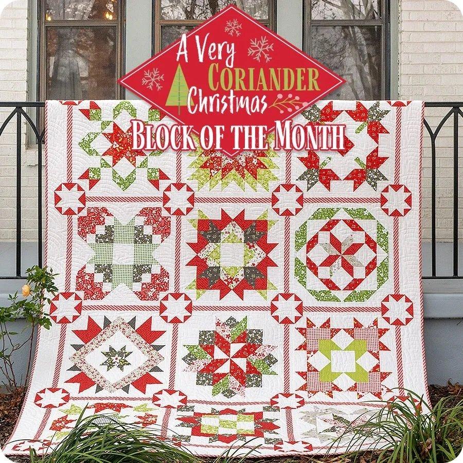 A Very Coriander Christmas - BOM - Month 1 - Holliberry