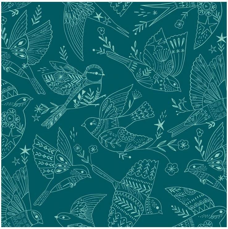Aviary - Birds - tonal - teal