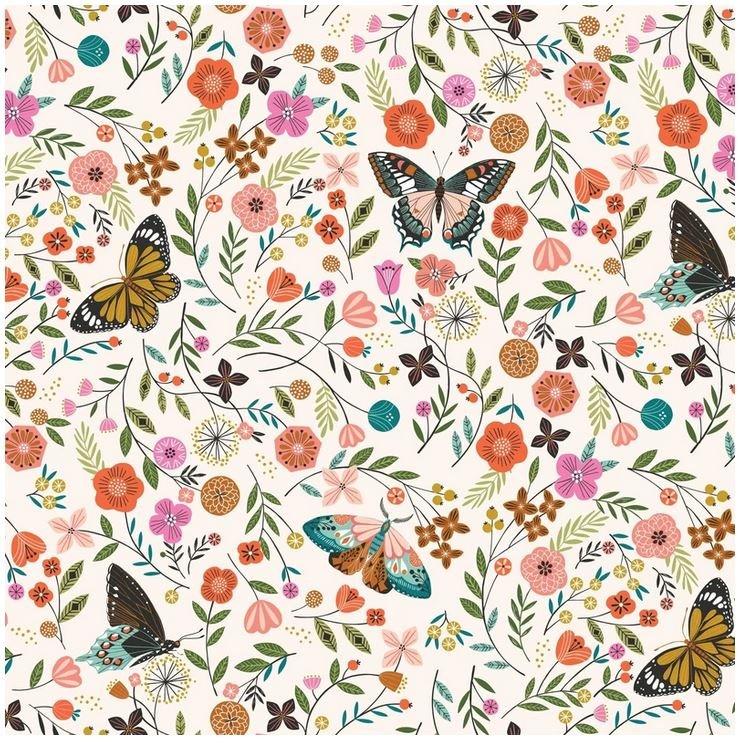 Aviary - Butterfly Meadow - cream