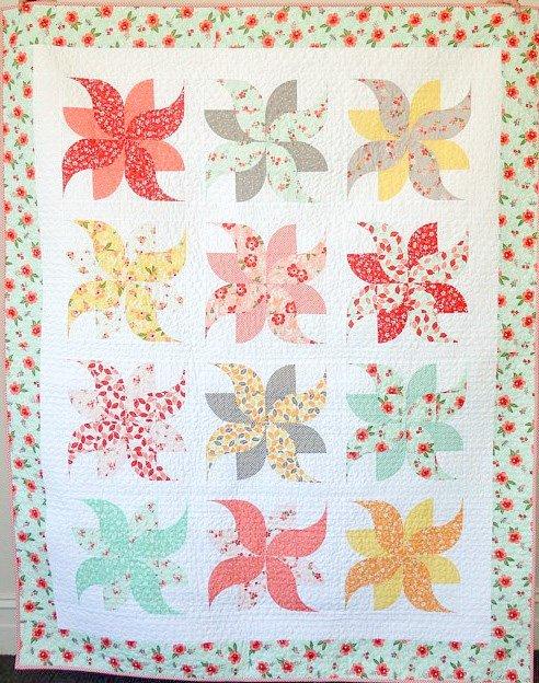 Tumbleweeds Finished Quilt - 54 x 68