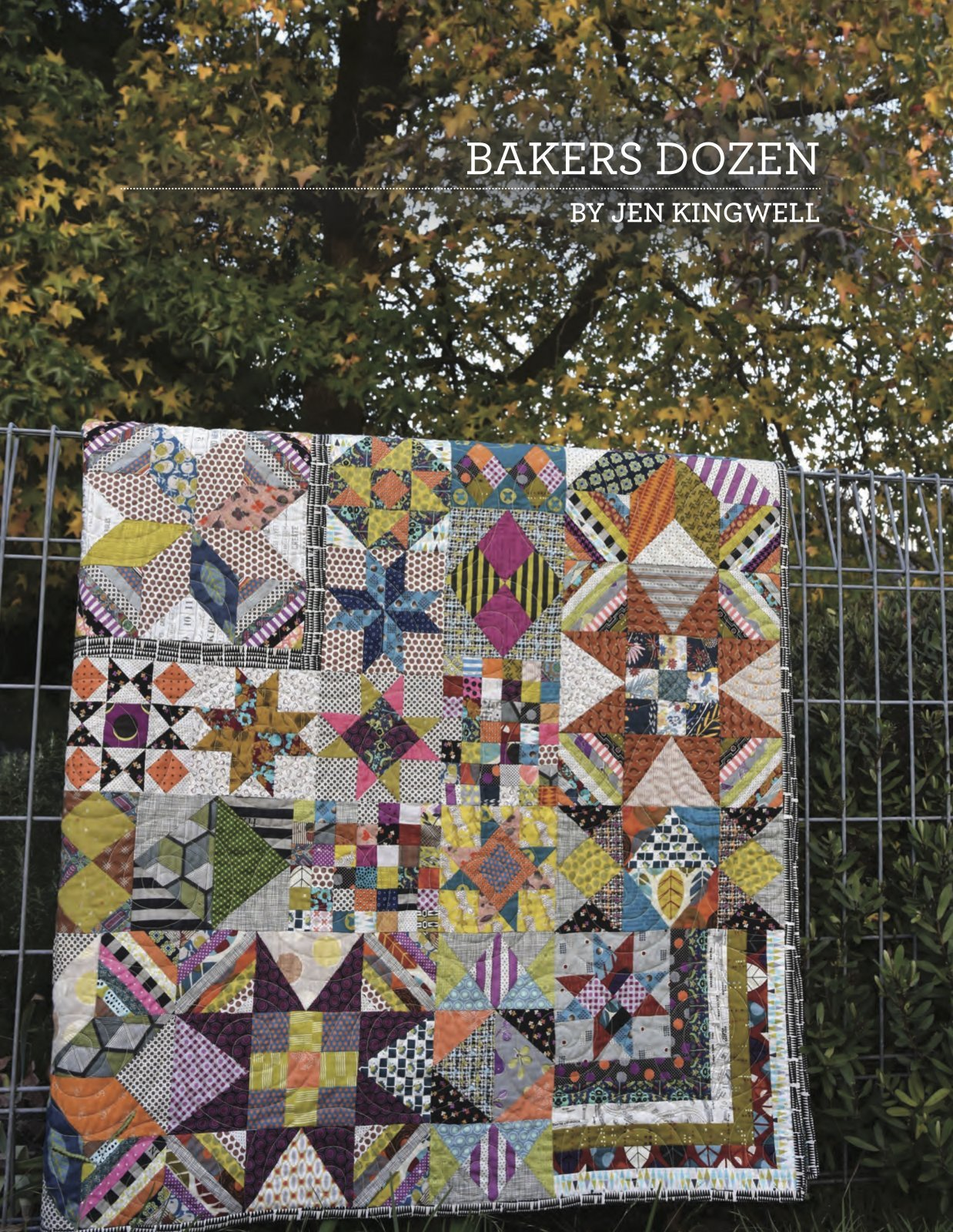 Bakers Dozen Pattern Book by Jen Kingwell Designs