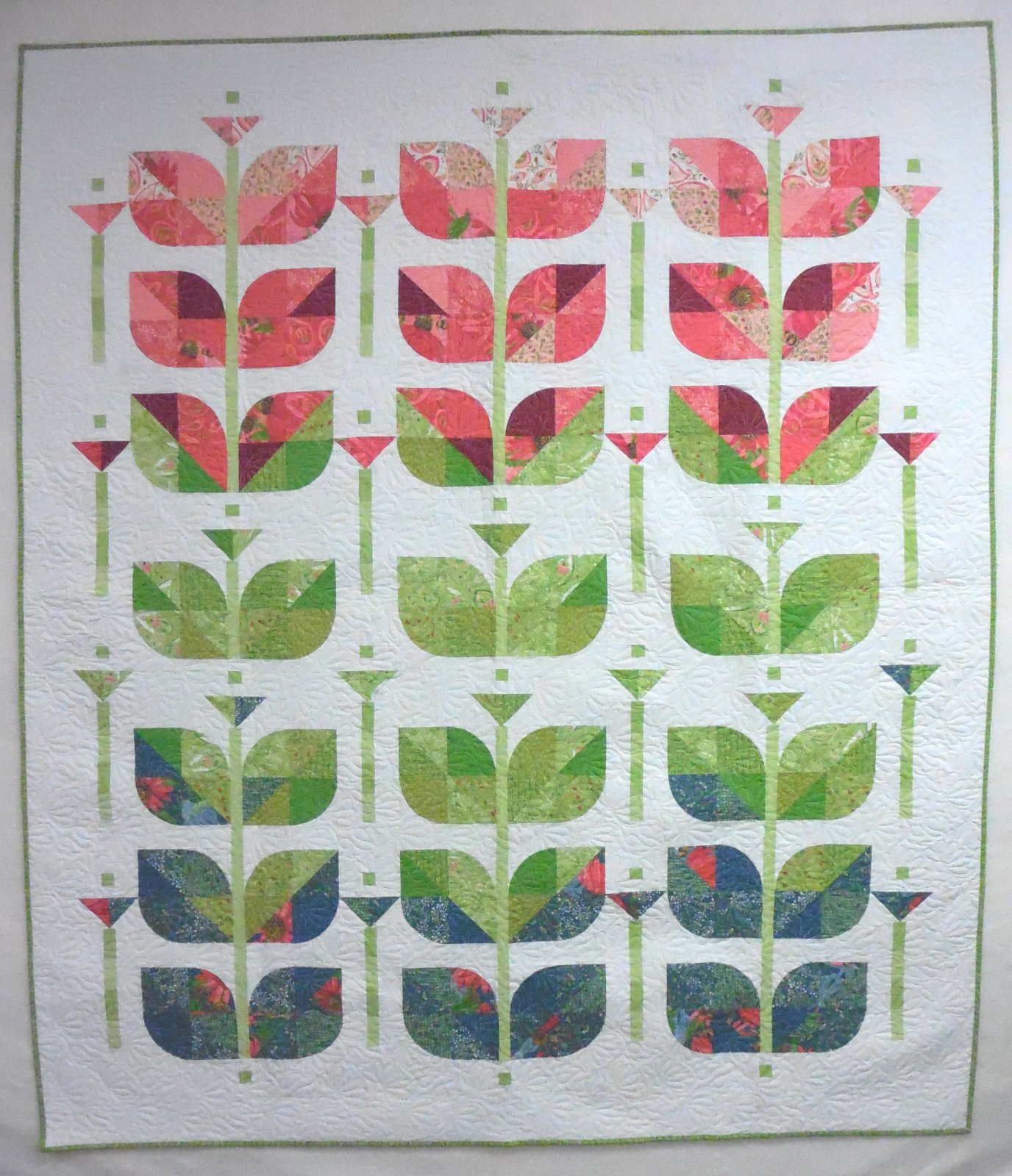 Beanstalk Finished Quilt - Twin Size - 79 x 90