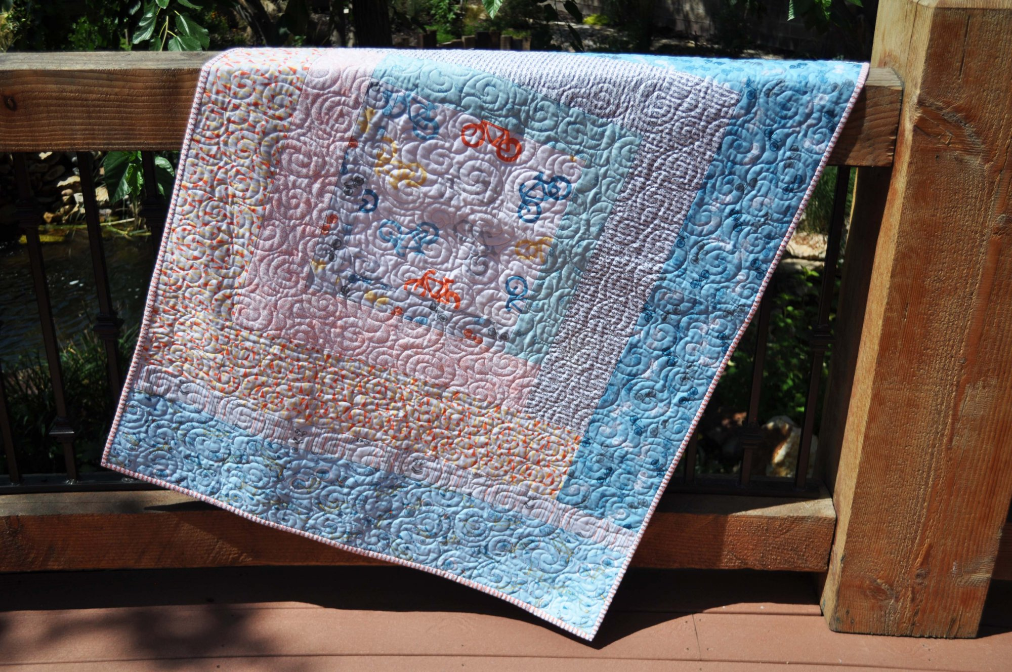 Bicycle Crib Quilt - 40 x 58