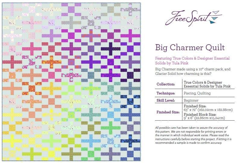 Big Charmer Quilt Pattern - 63 x 72