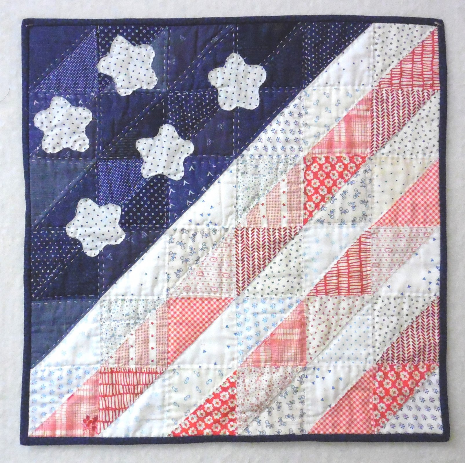 Blue Patriot Kit - 18 1/2 x 18 1/2 - Quilters Trek 2020