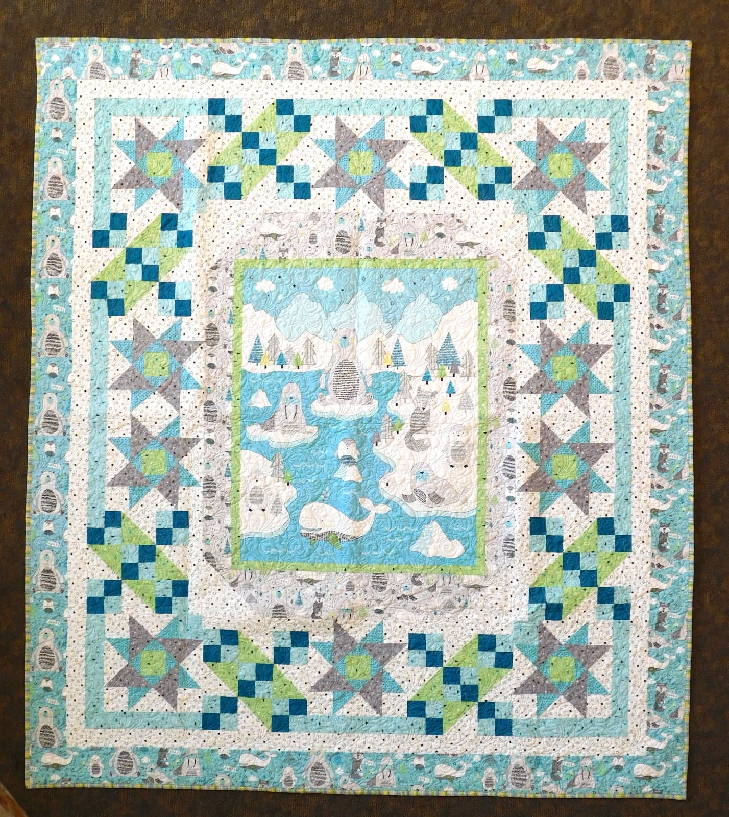 Brr Stars Finished Quilt       -        72 x 73
