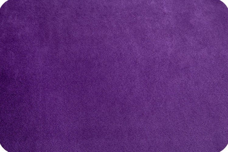 EOB - 30 - Solid Cuddle Fabric by Shannon - 90 Wide - Amethyst