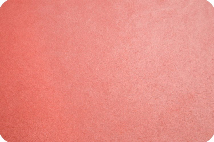 EOB - 1 yard 5 - Solid Cuddle Fabric by Shannon - 60 Wide - Coral