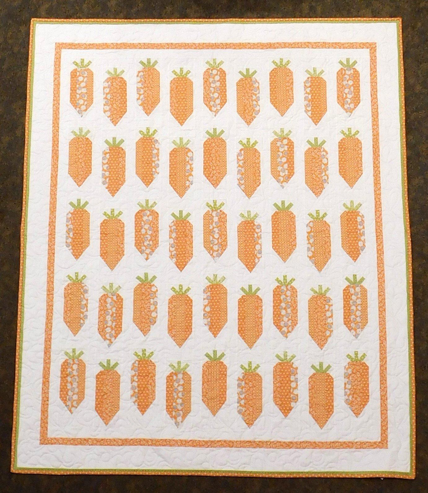 Carrot sticks Quilt Kit 56 x 67 1/2