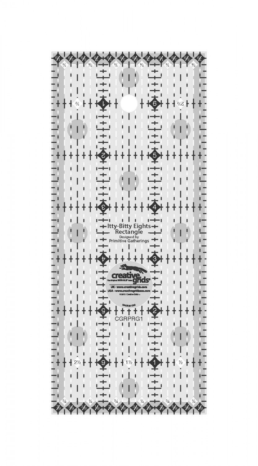 Ruler - Creative Grids - Itty Bitty Eights Ruler - 3 X 7