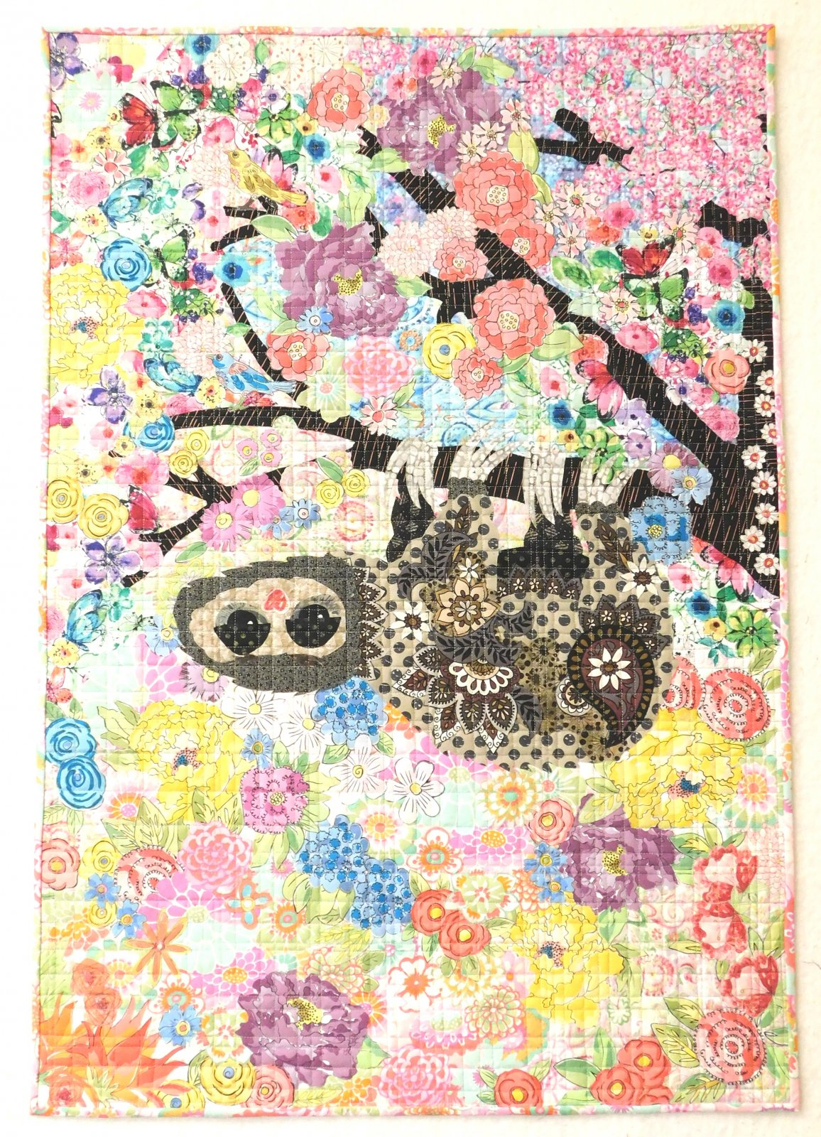 Cloth Sloth Collage Fabric Kit by The Quilters Lodge