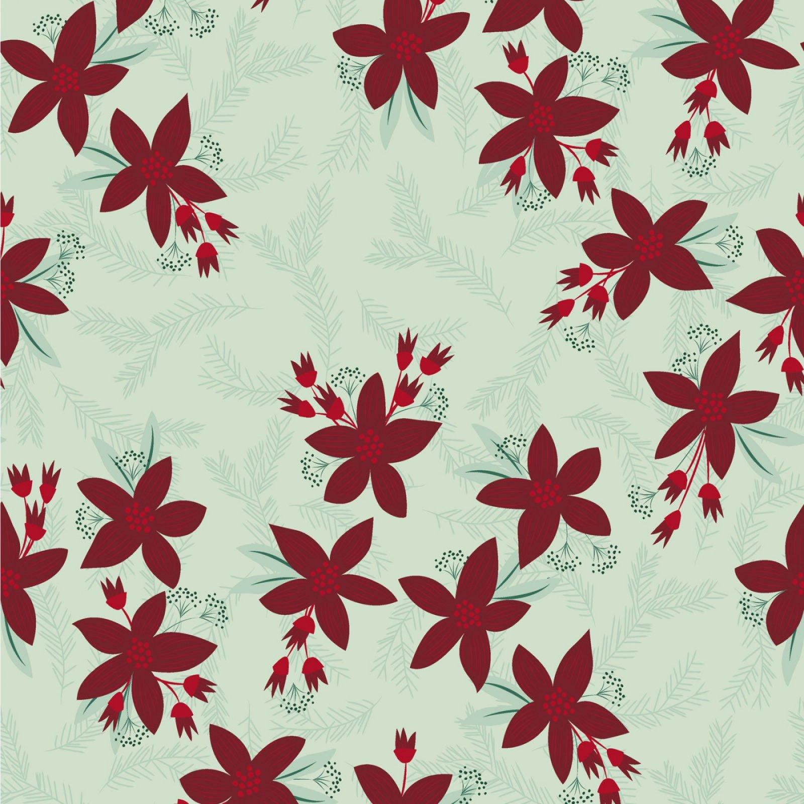 Yuletide - Poinsettia - Light Mint