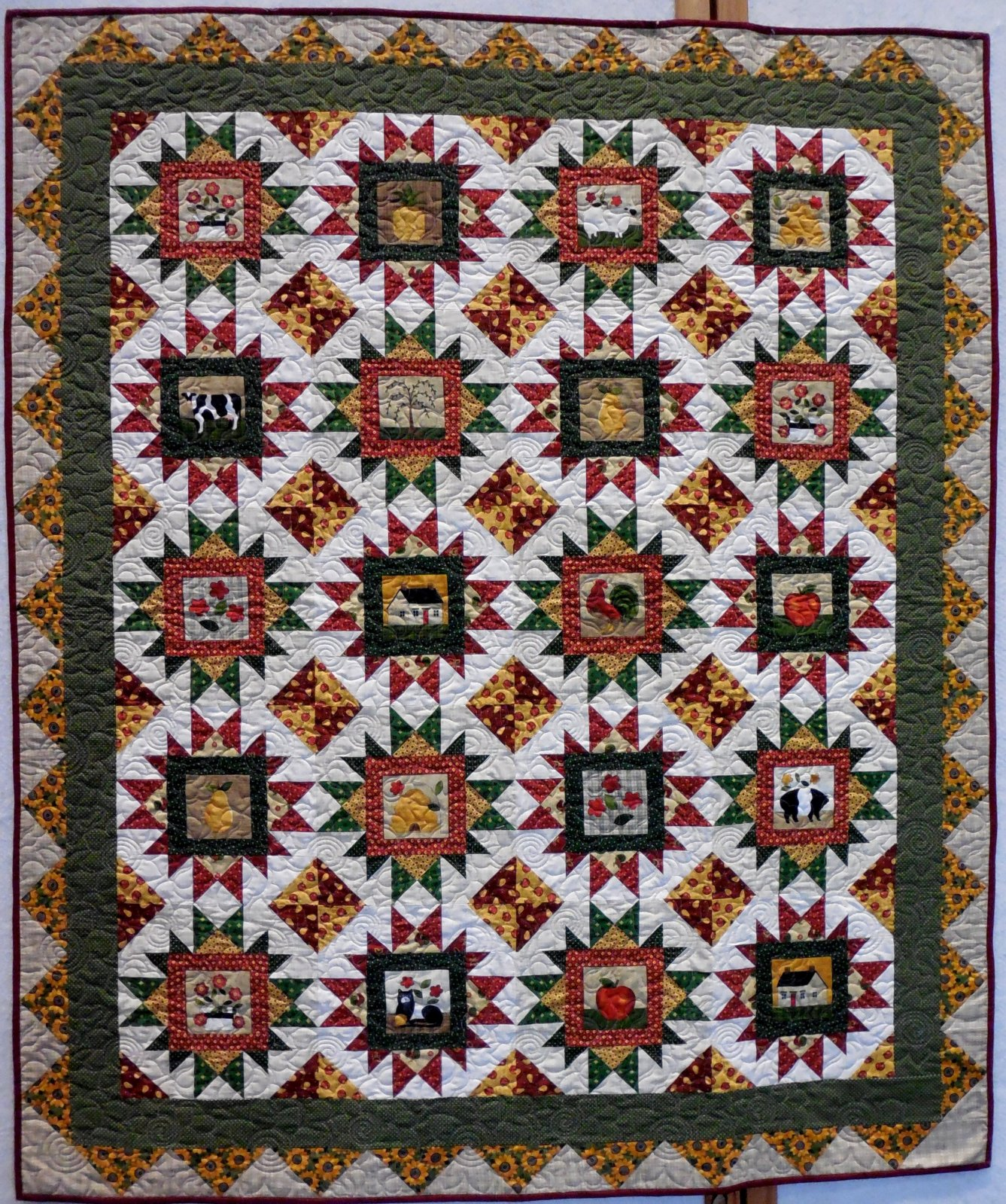 Country Pickin's Quilt Kit - 60 x 72