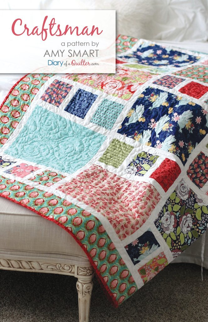 Craftsman Quilt Pattern by Amy Smart of A Diary of a Quilter