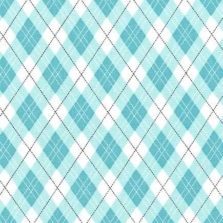 Rustique Winter - Gift Wrap - Aqua