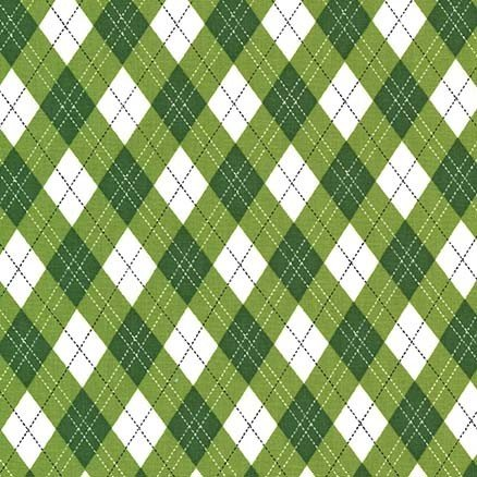 Rustique Winter - Gift Wrap - Green