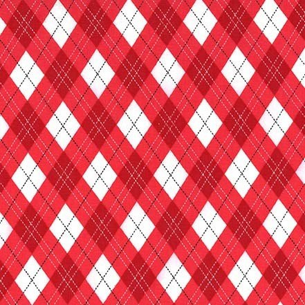 Rustique Winter - Gift Wrap - Red