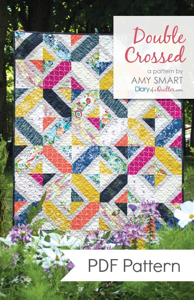 Double Crossed by Amy Smart of A Diary of a Quilter